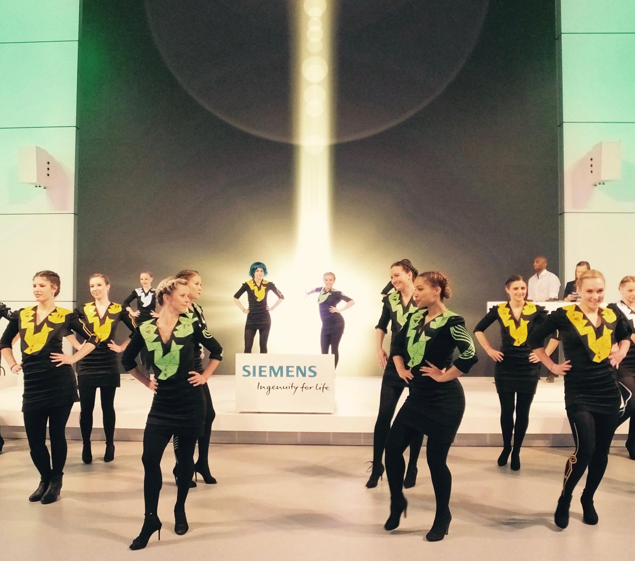 Show für Siemens auf der Hannover Messe 2016