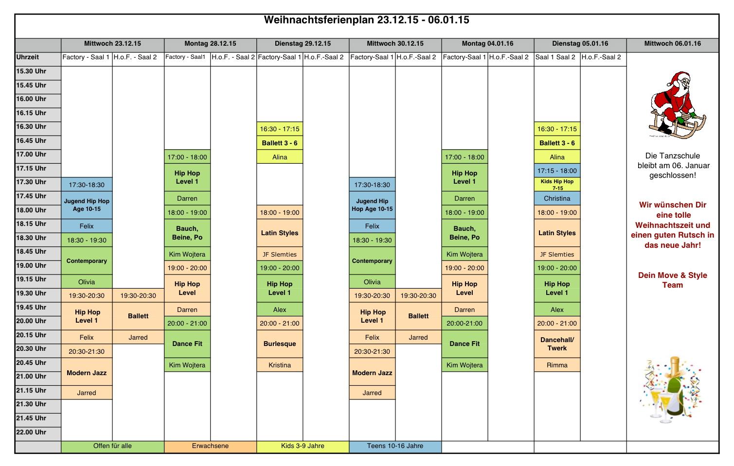 Ferienplan 23.12.-06.01-1