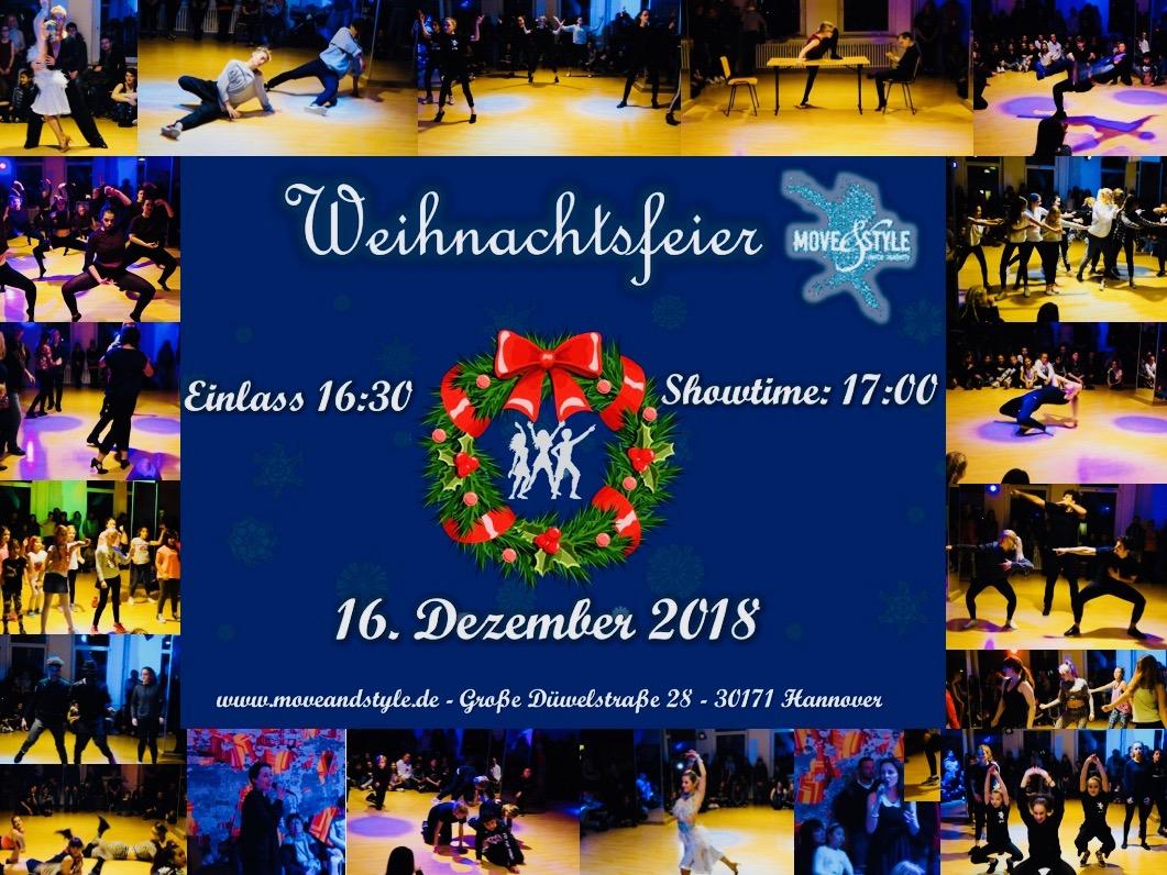 Weihnachtsfeier Style.Weihnachtsfeier 2018 Move Style Dance Academy Tanzschule
