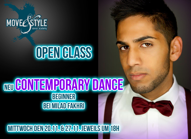 Neu: contemporary mit Milad OPEN CLASS