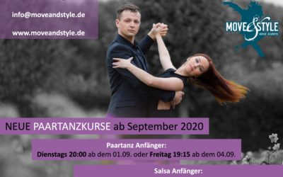 Neue Paartanzkurse ab September