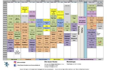 Der neue Kursplan ab dem 27.08.20