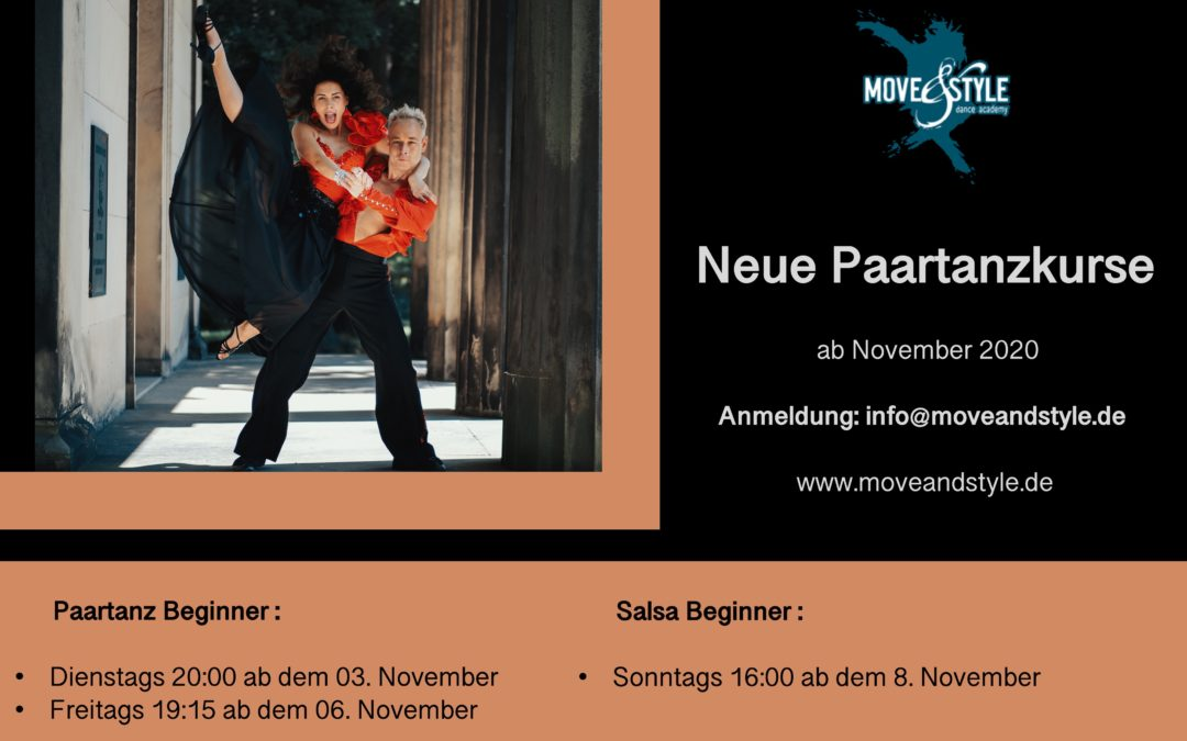 Neue Paartanzkurse ab November 2020